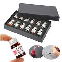 12PCS 7ml Glass Dip Pen Non-carbon Ink Set Fountain Writing Signature Box Gift Glass Sign Pen