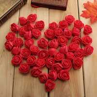 50pcs 2.5cm Artificial Roses PE Foam Rose Flower Wedding Party Home Decoration Valentine's day Fake Flowers
