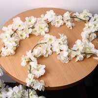 Artificial Silk Cherry Blossom Flower Hanging Vine Garlands Home Wedding Decorations