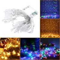 Battery Operated 6M Moon Shape Warm White Colorful 40 LED String Fairy Light Wedding Holiday Decor