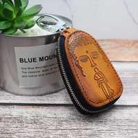 Men And Women Genuine Leather Leisure Retro Key Bag Car Key Holder