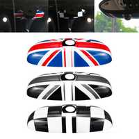 Car Inner Rear View Mirror Cover Shell UK Flag for BMW MINI Cooper F55 F56 F54 F60 High-end Version