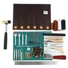 Les plus populaires 69PCS Leather Craft Tools Punch Kit Stitching Carving Working Sewing Groover