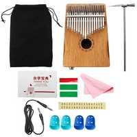17 Keys EQ Mahogany Kalimba Thumb Finger Piano with Bag Set