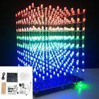 Bon prix Upgraded Version DIY WIFI APP 8x8x8 3D Light Cube Kit Red Blue Green LED MP3 Music Spectrum Electronic Kit With 3W Amplifier+3W Speaker