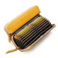 Brenice Women 24 Cards Wallet Long Purse Coin Bag