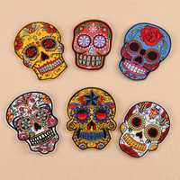 Skull Pattern Embroidered Patches Iron Sewing for Clothes Applique DIY Accessory Sticker Supplies