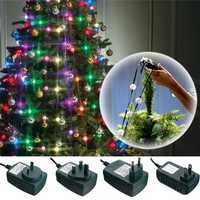 Colorful 64LEDs Three Modes Christmas Tree Fiber Optical Night Light Bulb for Party AC110-240V