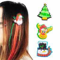 Cute Santa Christmas Xmas Hair Clip Party Accessories Decoration 4 Styles