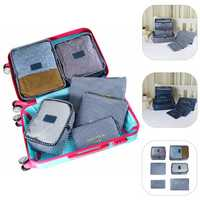 6Pcs Waterproof Travel Clothes Storage Bags Packing Cube Luggage Organizer Pouch