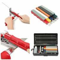 Knife Sharpener Set With 5pcs Sharpening Stone Edge Wicked Knife Sharpener Sharpening System Fix Angle Sharpener