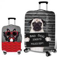 Honana 3D Spoof Dog Elastic Luggage Cover Trolley Case Cover Durable Suitcase Protector for 18-32 Inch Case Warm Travel Accessories