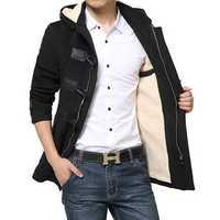 Thick Warm Woolen Windcoat Horns Button Trench Coat