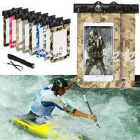 Universal Sport Screen Touch Waterproof Lanyard Bag Arm Band for Xiaomi Mobile Phone Under 6 inch