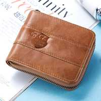 Men RFID Antimagnetic Genuine Leather Vintage Fashion 13 Card Slots Coin Bag Wallet