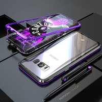 Bakeey Magnetic Adsorption Aluminum Glass Protective Case for Samsung Galaxy S8/S8 Plus
