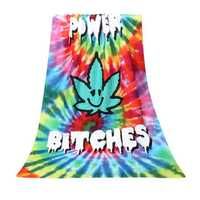 70x140cm Polyester Fiber Flower Power Pattern Bath Beach Towel Soft Reactive Print Washcloth