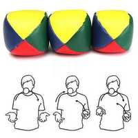 Set of 3 Juggling Balls Outdoor Sports Beanball Children Kids Toy Balls Classic Bean Bag Juggle Ball