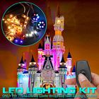 Meilleur prix LED Light Lighting Kit ONLY For LEGO 71040 For Disney Castle With Spotlight Outlets Bricks Toy Remote Control