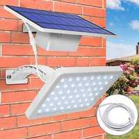 Solar Panel LED Light Sensor Wall Street Lamp Adjustable Floodlight Waterproof For Outdoor Lawn Garden