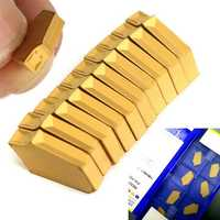 10pcs ZQMX3N11-1E SP300 YBC251 Cut Off Grooving Inserts for ZQ2020-3 Holder Turning Tool