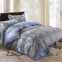 3 Or 4pcs Rosemary Flower Reactive Printing Bedding Sets Pillowcase Quilt Duvet Cover