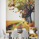 Meilleurs prix PAG Roller Shutters Autumn Print Painting Roller Blind Background Wall Window Curtain Decor