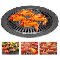 Smokeless Stovetop BBQ Grill Pan Stainless steel Card Type Non-stick Cooking Pan Round Shape Ceramic Pan