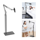 Promotion Bed Desktop Tablet Floor Stand Lazy Long Arm Adjustable Phone Holder Tablet Stand 360 Degree Rotation For 4.6-10.6 Inch Smart Phone Tablet Home Office Youtube Video Tiktok Live Stream Online Learning Course