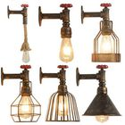 Best Price E27 Vintage Industrial Iron Water Pipe Wall Light Steampunk Sconce Light Fixture