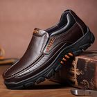 Meilleurs prix Men Genuine Cow Leather Waterproof Comfy Non Slip Soft Slip On Casual Oxfords