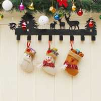 Christmas Candy Bag Stocking Mini Santa Claus Sock Gift Bag Bauble Christmas Tree Ornaments Decorati