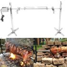 Meilleurs prix 220V 15W Stainless Steel Portable Rotisserie Grill Spit Tripod BBQ Lamb Camping Roaster BBQ Grill