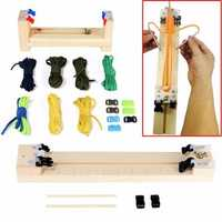 IPRee® DIY Jig Solid Wood Paracord Bracelet Maker Knitting Tool Wristband Weaving Braiding Device