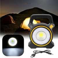 30W COB LED USB Solar Work Light Spotlight Flood Lamp Lantern Outdoor Camping