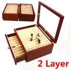 Meilleurs prix 20 Pieces Fountain Pens Holder Wooden Pen Display Case With Antique Wind Red Color Container