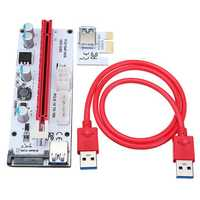 VER 008S USB3.0 PCI-E Express 1x to 16x Extension Cable Extender Riser Card For 8 GPU Graphics Cards