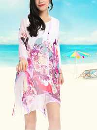 Loose Printed Soft Women Beach Scarves Veil Shawl