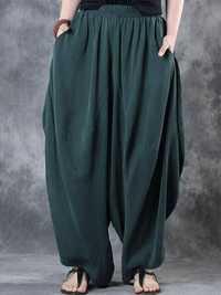 Women High Elastic Waist Loose Harem Baggy Pant
