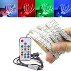 Bon prix 1M WS2812B Full Color Non-waterproof 144LEDs RGB Strip Light with 17 Keys Remote Control DC5V