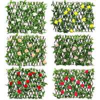 Artificial Fencing Wire Mesh Simulation Plant Cane Leaf Net Wooden Home Restaurants Wall Decor