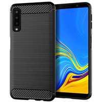 Mofi Protective Case For Samsung Galaxy A7 2018 Carbon Fiber Brushed Finish Fingerprint Resistant
