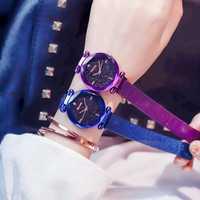 Luxury Clock Magnet Buckle Watch Diamond Watches Geometric Surface Fashion Casual Dress Quartz Wristwatch