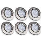 Meilleurs prix 6pcs 5W GU10 LED Recessed Spotlight Round Rotatable Flush 400LM Ceiling Light Spotlight AC220V-240V