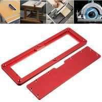 Electric Circular Saw Flip Cover Plate Adjustable Aluminium Surface Embedded Insert Plate For Table Saw