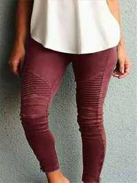 Casual Women Solid Color Trousers Leggings