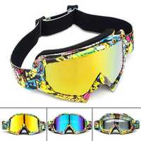 Motorcycle Racing Goggles Anti-Fog Anti-Scratch Adult Snowboard Skiing Glasses