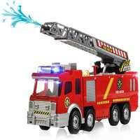 Spray Water Gun Firetruck Juguetes Firefighter Fire Truck Vehicles Car Music Light Cold For Kids Toy