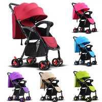 Foldable Baby Kids Stroller Newborn Infant Awning Pushchair Buggy Travel Pram Lightweight Strollers