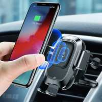 Baseus Intelligent Infrared Sensor Auto Lock 10W Qi Wireless Car Charger Holder For iPhone XS MAX S9